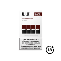 Картридж JUUL Virginia Tobacco 5% (4 шт.), 5 %