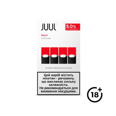 Картридж JUUL Fruit 5% (4 шт.), 5 %